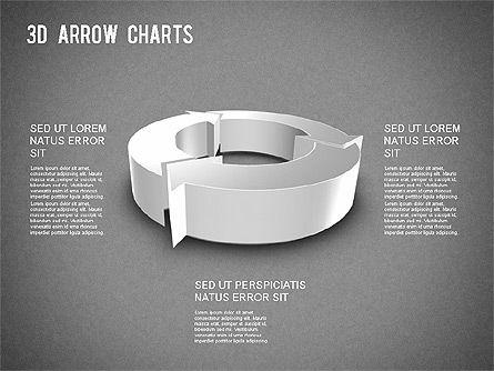 3D Donut Arrow Chart, Slide 16, 01226, Process Diagrams — PoweredTemplate.com