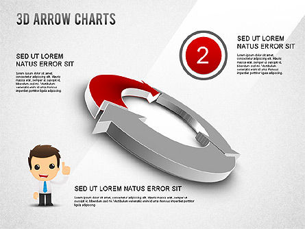 3D Donut Arrow Chart, Slide 2, 01226, Process Diagrams — PoweredTemplate.com