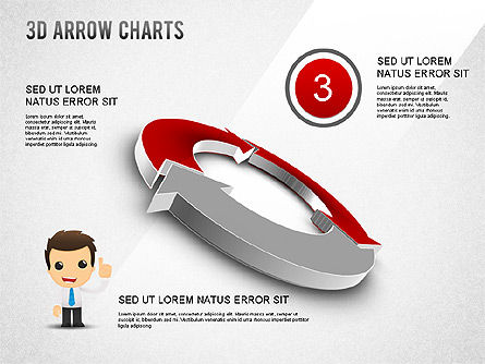 3D Donut Arrow Chart, Slide 3, 01226, Process Diagrams — PoweredTemplate.com