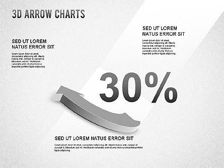 3D Donut Arrow Chart, Slide 5, 01226, Process Diagrams — PoweredTemplate.com