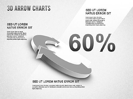 3D Donut Arrow Chart, Slide 6, 01226, Process Diagrams — PoweredTemplate.com