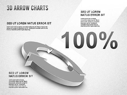 3D Donut Arrow Chart, Slide 7, 01226, Process Diagrams — PoweredTemplate.com