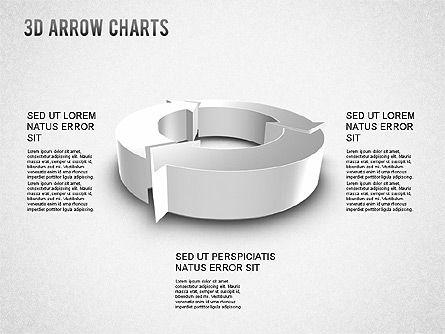 3D Donut Arrow Chart, Slide 8, 01226, Process Diagrams — PoweredTemplate.com