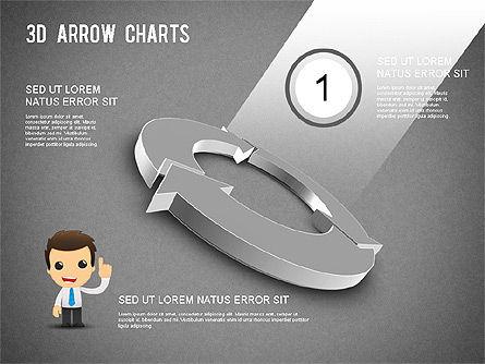 3D Donut Arrow Chart, Slide 9, 01226, Process Diagrams — PoweredTemplate.com