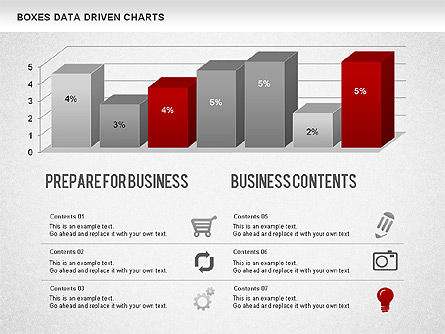 Bar Data Driven Chart, Slide 2, 01228, Data Driven Diagrams and Charts — PoweredTemplate.com