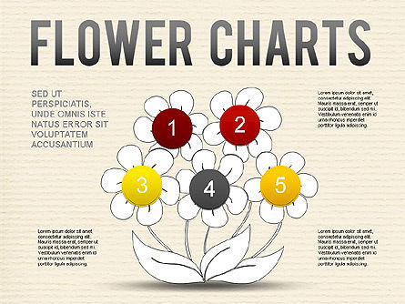 Pie Charts: Flower Chart #01229
