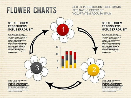 Flower Chart, Slide 10, 01229, Pie Charts — PoweredTemplate.com