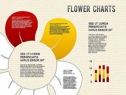Flower Chart, Slide 12, 01229, Pie Charts — PoweredTemplate.com