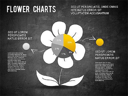 Flower Chart, Slide 14, 01229, Pie Charts — PoweredTemplate.com