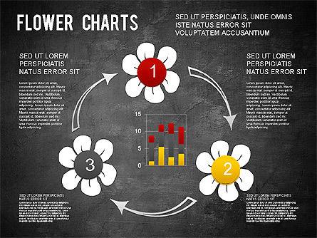 Flower Chart, Slide 15, 01229, Pie Charts — PoweredTemplate.com