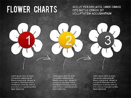 Flower Chart, Slide 16, 01229, Pie Charts — PoweredTemplate.com