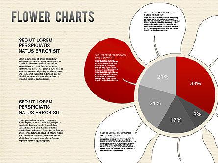 Flower Chart, Slide 3, 01229, Pie Charts — PoweredTemplate.com