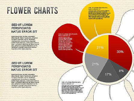 Flower Chart, Slide 4, 01229, Pie Charts — PoweredTemplate.com