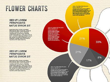 Flower Chart, Slide 5, 01229, Pie Charts — PoweredTemplate.com