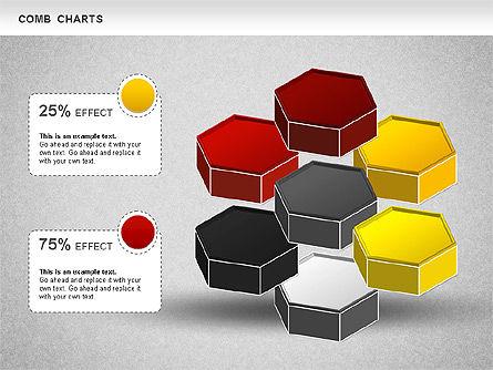 Comb Chart, Slide 3, 01230, Business Models — PoweredTemplate.com