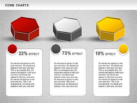 Comb Chart, Slide 4, 01230, Business Models — PoweredTemplate.com