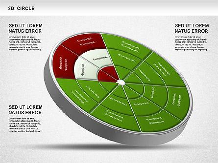3D Segmented Wheel Diagram, Slide 2, 01232, Business Models — PoweredTemplate.com