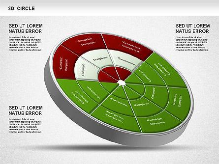 3D Segmented Wheel Diagram, Slide 3, 01232, Business Models — PoweredTemplate.com