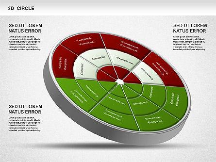 3D Segmented Wheel Diagram, Slide 4, 01232, Business Models — PoweredTemplate.com