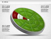 Business Models: 3D Segmented Wheel Diagram #01232