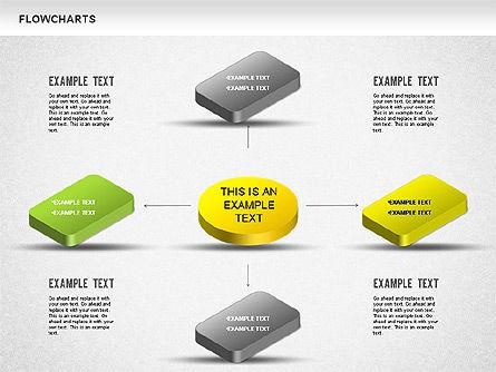 Flow Charts: Diagramma di flusso 3d #01233