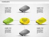 Flow Charts: Diagramme 3d #01233