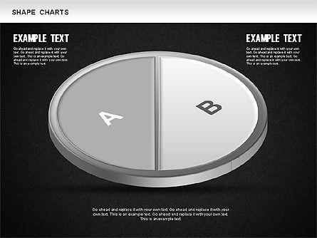 3D Donut Pie Chart, Slide 10, 01234, Pie Charts — PoweredTemplate.com