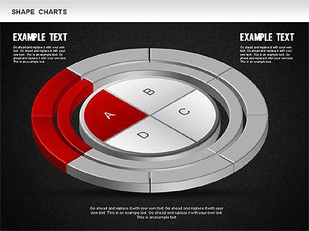 3D Donut Pie Chart, Slide 13, 01234, Pie Charts — PoweredTemplate.com