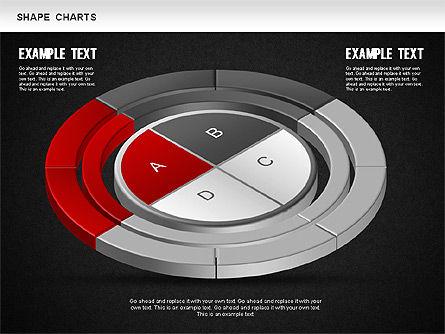 3D Donut Pie Chart, Slide 14, 01234, Pie Charts — PoweredTemplate.com