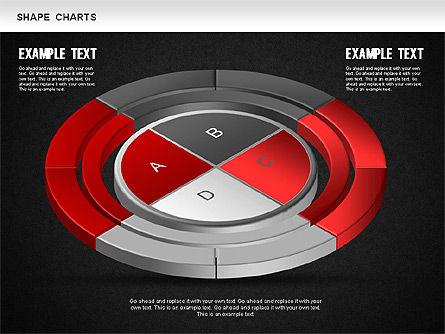 3D Donut Pie Chart, Slide 15, 01234, Pie Charts — PoweredTemplate.com