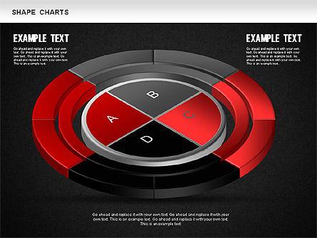 3D Donut Pie Chart, Slide 16, 01234, Pie Charts — PoweredTemplate.com