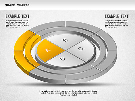 3D Donut Pie Chart, Slide 5, 01234, Pie Charts — PoweredTemplate.com