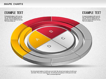3D Donut Pie Chart, Slide 6, 01234, Pie Charts — PoweredTemplate.com