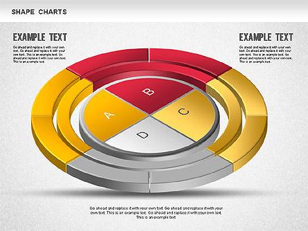 3D Donut Pie Chart, Slide 7, 01234, Pie Charts — PoweredTemplate.com