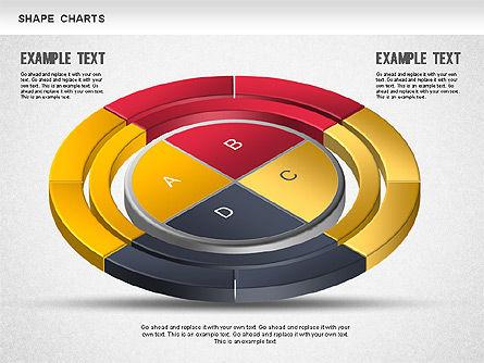 3D Donut Pie Chart, Slide 8, 01234, Pie Charts — PoweredTemplate.com