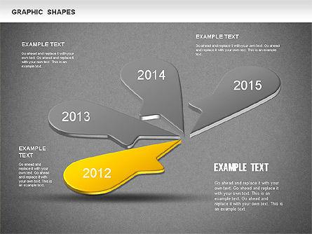 Timeline Shapes, Slide 10, 01237, Timelines & Calendars — PoweredTemplate.com
