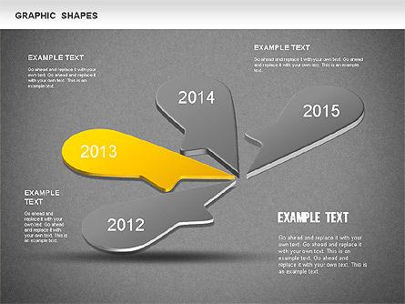 Timeline Shapes, Slide 11, 01237, Timelines & Calendars — PoweredTemplate.com