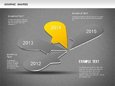 Timeline Shapes, Slide 12, 01237, Timelines & Calendars — PoweredTemplate.com