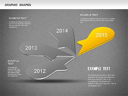 Timeline Shapes, Slide 13, 01237, Timelines & Calendars — PoweredTemplate.com