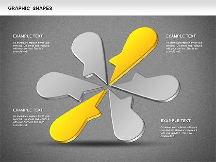 Timeline Shapes, Slide 15, 01237, Timelines & Calendars — PoweredTemplate.com