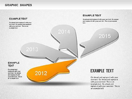 Timeline Shapes, Slide 2, 01237, Timelines & Calendars — PoweredTemplate.com