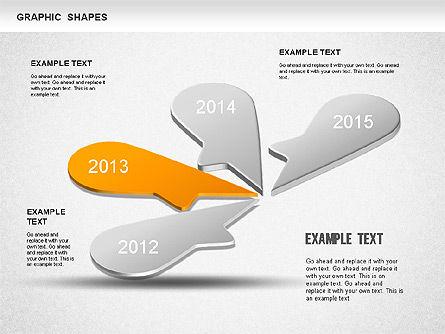 Timeline Shapes, Slide 3, 01237, Timelines & Calendars — PoweredTemplate.com