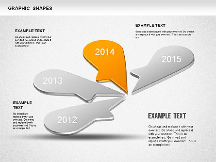 Timeline Shapes, Slide 4, 01237, Timelines & Calendars — PoweredTemplate.com