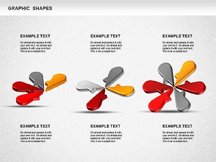 Timeline Shapes, Slide 9, 01237, Timelines & Calendars — PoweredTemplate.com