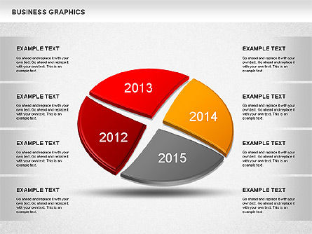 Pie Charts: Years Compare Pie Chart #01238