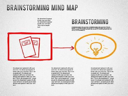 Brainstorming Mind Map, Slide 2, 01239, Business Models — PoweredTemplate.com