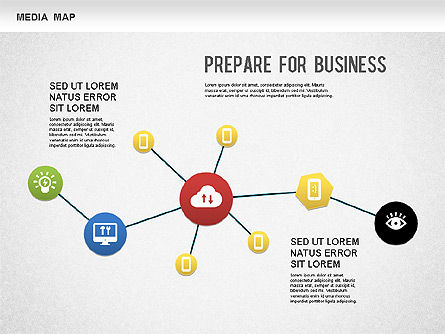 Media Map, 01240, Business Models — PoweredTemplate.com