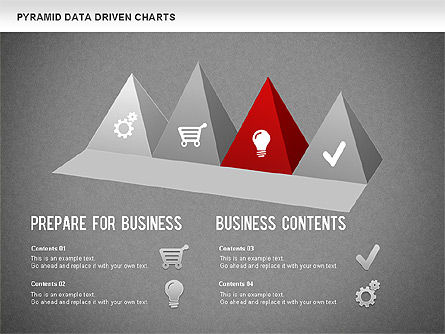 Pyramid Bar Chart, Slide 12, 01241, Business Models — PoweredTemplate.com