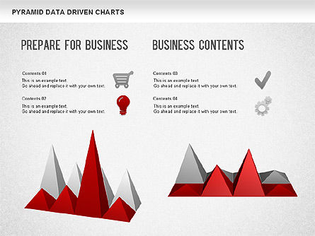 Pyramid Bar Chart, Slide 4, 01241, Business Models — PoweredTemplate.com