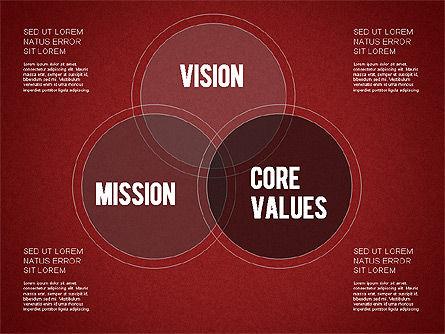 Mission, Vision and Core Values Diagram, Slide 10, 01242, Business Models — PoweredTemplate.com